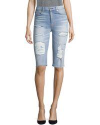 Hudson Jeans - Zoeey Denim Bermuda Shorts - Lyst