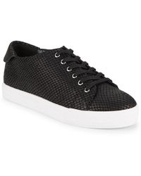 Nine West - Patrick Leather Platform Trainers - Lyst