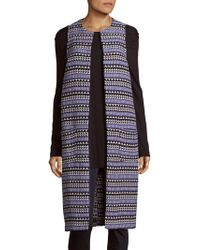 BCBGeneration - Printed Open Front Cardigan - Lyst