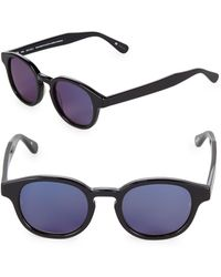Sunday Somewhere - Tinted 47mm Round Sunglasses - Lyst