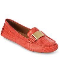Calvin Klein - Lisette Leather Flats - Lyst