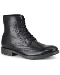 Marc New York - Baycliff Leather Wing-tip Combat Boots - Lyst