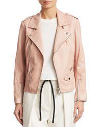 3.1 Phillip Lim - Leather Moto Jacket - Lyst