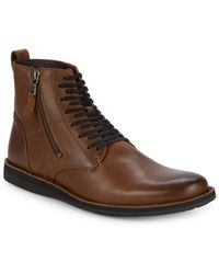 John Varvatos - Leather Ankle Boots - Lyst