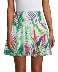 Parker - Paradise Smocked Cotton Skirt - Lyst