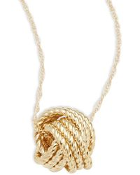 Saks Fifth Avenue - Love Knot 14k Yellow Gold Pendant Necklace - Lyst