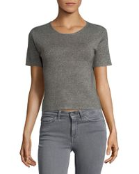 Saks Fifth Avenue - Cropped Tee - Lyst