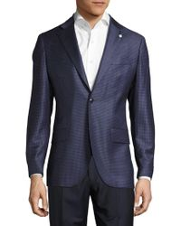 Lubiam - Notch-lapel Check Wool Jacket - Lyst