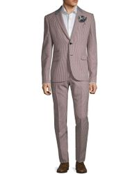 Valentino - Mini Chequered Wool Suit - Lyst