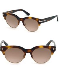 Tom Ford - Henri 52mm Round Cat-eye Sunglasses - Lyst