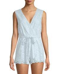 Lovers + Friends - Miami Sleeveless Lace Romper - Lyst