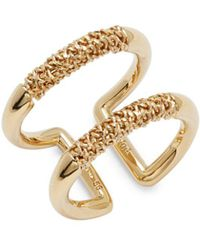 Chloé | Goldtone Double Chain Ring | Lyst
