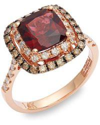 Effy - 14k Rose Gold, Garnet & Diamond Ring - Lyst