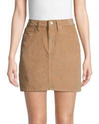 726bff7acd6b Calvin Klein Floral Cotton Mini Skirt in Black - Lyst