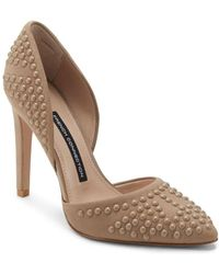French Connection - Maggie Studded Leather Pump - Lyst
