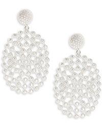 Saks Fifth Avenue - Cubic Zirconia Drop Earrings - Lyst