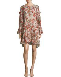 IRO - Averen Floral-print Tunic Dress - Lyst