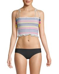 Red Carter - Lima Smocked Crop Top - Lyst