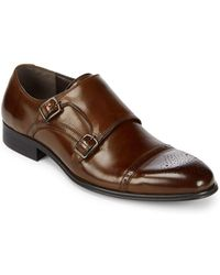 Kenneth Cole - Double Monk-strap Leather Dress Shoes - Lyst