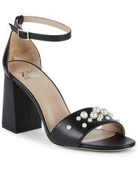 Zac Zac Posen - Elle Faux Pearl Leather Ankle Strap Sandals - Lyst