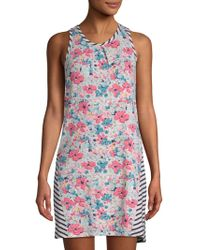 Jane And Bleecker - Mixed-print Chemise - Lyst