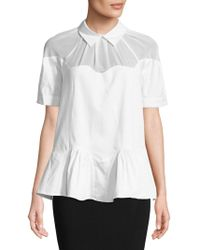 Opening Ceremony - Sateen Wave Top - Lyst