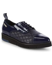 Love Moschino - Quilted Platform Derbys - Lyst