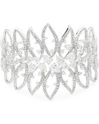 Adriana Orsini - Calla Crystal Large Open Cuff Bracelet - Lyst