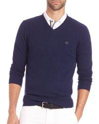 AG Jeans - Arbor Merino Wool V-neck Jumper - Lyst