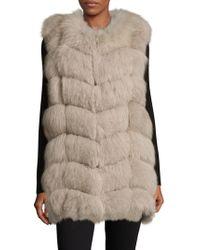 Annabelle New York - Dyed Fox Fur Vest - Lyst