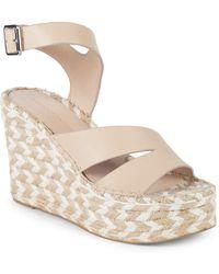 6bda0d93d0fa Sigerson Morrison - Arien Leather Platform Wedge Sandals - Lyst