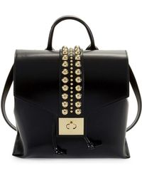 Valentino By Mario Valentino - Olivier Studded Leather Backpack - Lyst