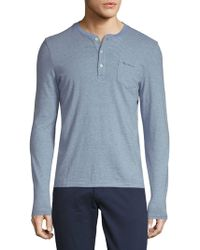 Ben Sherman - Fine Stripe Cotton Henley - Lyst