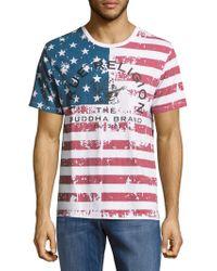 True Religion - Usa Flag Cotton Tee - Lyst