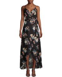 Cirana - Long Floral Wrap Dress - Lyst