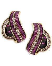 Heidi Daus - Rhinetone & Crystal Oval Swirl Earrings - Lyst