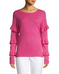 Saks Fifth Avenue - Tiered Ruffled-sleeve Sweater - Lyst