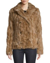 d55d6647cd66 Juicy Couture Rex Faux Fur Hooded Jacket in Brown - Lyst