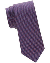 Saks Fifth Avenue - Horizontal Stripe Silk Tie - Lyst