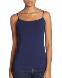 Saks Fifth Avenue Black - Basic Stretch-cotton Camisole - Lyst