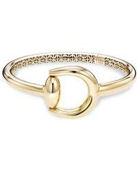 Saks Fifth Avenue - 14k Yellow Gold Horse Bit Bangle Bracelet - Lyst