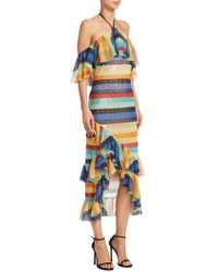 1c7e47a30adbf Alice + Olivia - Annabeth Cold-shoulder Midi Dress - Lyst