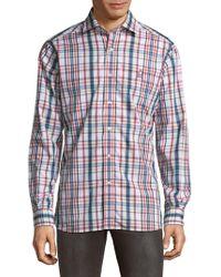 Psycho Bunny | Plaid Cotton Button-down Shirt | Lyst