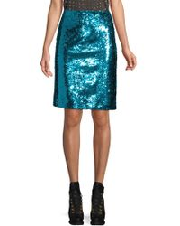 Alice + Olivia - Ramos Sequin Fitted Skirt - Lyst