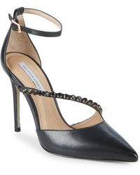 Saks Fifth Avenue - Stone Leather Pumps - Lyst