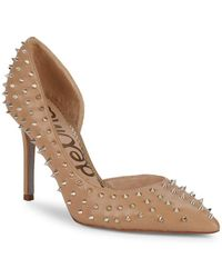 2a382770c2c313 Sam Edelman - Hadlee Embellished Leather D orsay Court Shoes - Lyst