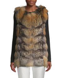 La Fiorentina - Fluffy Fox Fur Vest - Lyst