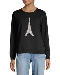 Karl Lagerfeld - Embellished Eiffel Sweater - Lyst