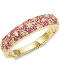 Le Vian - 18k Honey Gold Passion Ruby And Vanilla Diamonds Three Row Ring - Lyst