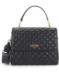 Love Moschino - Diamond Quilted Satchel - Lyst